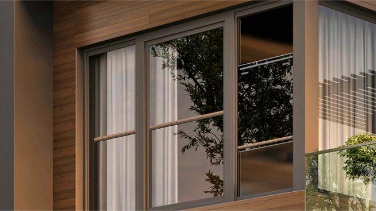 Pearl double glazed vertical window by Jewel Windows