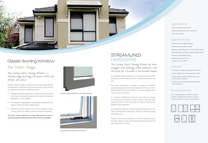 classic awning window brochure