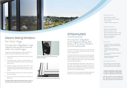 classic sliding window brochure